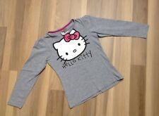 C&A Mädchen Langarmshirt Shirt Hello Kitty Gr. 134/140 grau