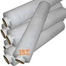 12 ROLL OF STRONG CLEAR STANDER PALLET STRETCH WRAP 400mm X 250m Cling Film D743