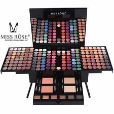 Miss Rose 190 Pcs Make up Cosmetic Kit Box Eyeshadow Blushers Eyebrow Mirror Set