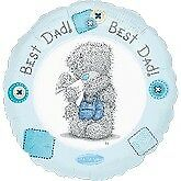 Amscan International LIC Me to You Best Dad - 18 Foil Balloon Day Packet