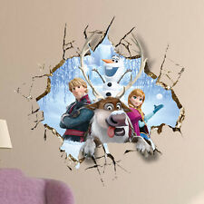 Frozen Anna 3D Wall Stickers Children's Bedroom Mural Decals Kid's Home Decor