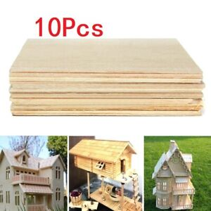 10pcs Balsa Wood Sheets Wooden Plate 100x100x1mm For House Ship Craft Model DIY