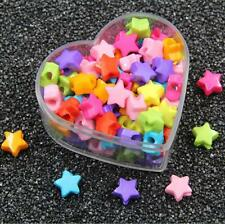 100pcs Mixed Colors Acrylic Star Beads baby Pacifier clip Jewelry Accessories