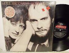 Merle Haggard & Leona Williams~Heart to Heart~Mercury 422-812-183-1 m-1 Lp EX