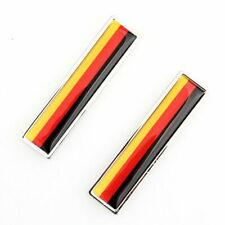 2Pcs Aluminum Car German Flag Emblem Badge Sticker Decal For VW/Golf/Jetta/Benz