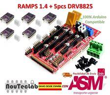 RAMPS 1.4 Control Panel Reprap MendelPrusa + 5pcs DRV8825 Stepper Motor Drive