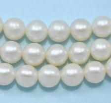 8mm Ivory White Round Freshwater Pearls Beads for Jewellery Making A+