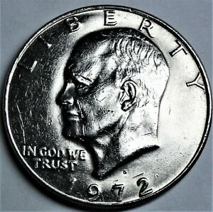 USA 1 Dollar Münze 1972 D = Denver - Eisenhower-  st/ unc. & Kapsel