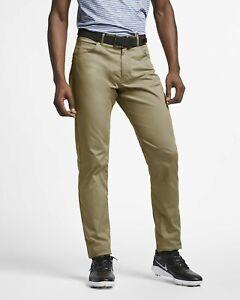 Men's Nike 6 Pocket Slim Flex Golf Pants Tan 34x34 MSR $85 New Rory on Tour