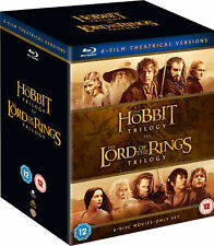 HOBBIT AND LORD OF THE RINGS THEATRICAL VERSION BOX SET 6 DISC BLU-RAY REG B NEW