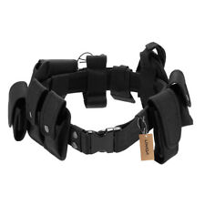 Tactical Police Security Guard Duty Utility Kit Belt with Pouches System J6W4