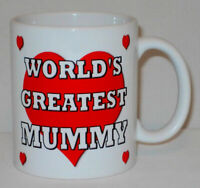 World's Greatest Mummy Mug Can Personalise Great Mum Mother's Day Birthday Gift
