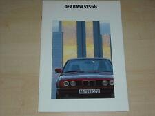 64722) BMW 5er Reihe E34 525tds Prospekt 01/1992