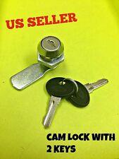 LOT OF 100Cam Lock File Cabinet Mailbox Desk Drawer Cupboard Locker + 2 Keys 90°