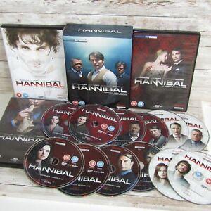 Hannibal Complete Series 1-3 DVD Box Set  Mads Mikkelsen Gillian Anderson