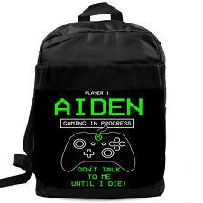 XBOX GAMER Backpack School Bag Sports Laptop Sports PERSONALISED Gift KS225