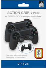 2 Housse Noir Silicone Action Grip Pour Manette Playstation 4 Neuf