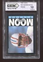 Warren Moon RC 1985 Topps #251 Oilers HOF Rookie GEM Elite 10 Pristine