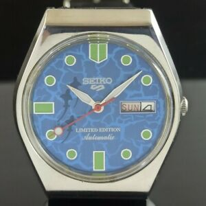 OLD VINTAGE SEIKO 5 AUTOMATIC 6349A JAPAN MENS DAY/DATE WATCH 474c-a239466-4