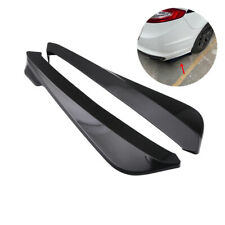 2x Glossy Black 490MM Car SUV Rear Bumper Lip Side Fin Spoiler Splitter Diffuser