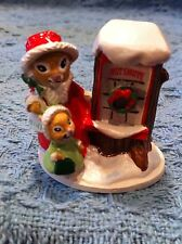 "NOS AVON GIFT COLLECTION FOREST FRIENDS ""SHOPPING FOR TREATS"" MINI FIGURINE"