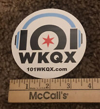 101 WKQX Chicago Radio Station Sticker Decal 101.1 FM Q101 Alternative Rock