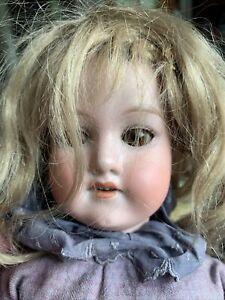 Armand Marseille Antique German Bisque Porcelain Head Dimple Chin Doll