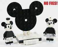 LEGO DISNEY MICKEY MOUSE & MINNIE MINIFIGURE DISPLAY BASE - MADE OF GENUINE LEGO