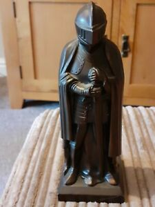 Metal Medieval Knight With Lifting Helmet