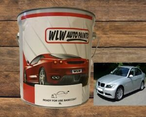 BMW TITAN SILVER 354 2K SOLVENT BASECOAT CAR PAINT MIX READY FOR USE