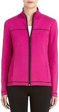 14014 Jones New York Womens Magenta Purple Full Zip Sweater Jacket X-Small XS