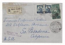 1947 San Remo Italy, Registered to Pasadena California, 5L Pair, 25L, MISSENT