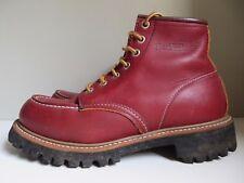 RARE VINTAGE RED WING WORK BOOTS 53378 VIBRAM LUG SOLE 8146 ROUGHNECK 6 D UK 5