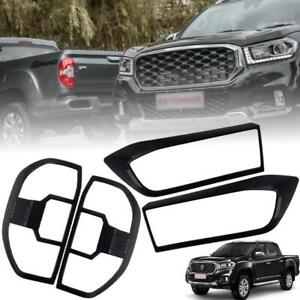 Cover Head Lamp Tail Light Matte Black Use For Maxus T70 MG Extender Pickup 2020