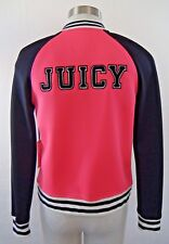 NEW with Tags JUICY COUTURE Bomber Jacket HOT PINK/Black by Kohl's SMALL