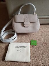 New KATE SPADE Carlyle Street Justina Leather Satchel Warm Marshmallow RRP £325