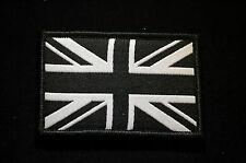 British Army Viper Union Flag Morale - Velcro Patch - Black/ White  No376
