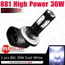 1x 881 High Power 30W LED Fog Driving DRL Lamp 886 889 894 7000K White 12V-24V