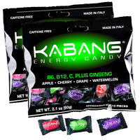 Kabang Energy Candy with Vitamin C, Vitamin B12, B6 and Ginseng (Pack of 2)
