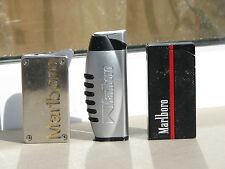Lot 3 pc Marlboro lighters metal used rare cigarettes