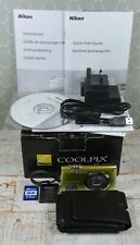 NIKON Green Coolpix S3000 12MP Wide 4x Zoom VR Digital Compact Camera Boxed VGC