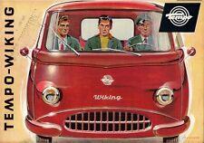 Tempo Viking c 1963 UK Market Brochure Panel Van Combination Platform Truck