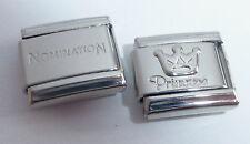 PRINCESS & CROWN 9mm Italian Charm + 1x Genuine Nomination Classic link Silver