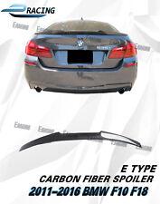 Carbon Fiber Trunk Spoiler For 2011-2016 BMW F10 F18 528i 535i 550i M5 Type E