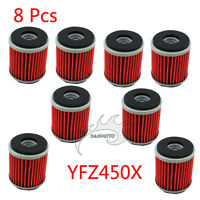 8x Oil Filter For Yamaha WR250 WR450 YFZ450 YFZ450R YZ250 YZ450 XT250 HF KN 140