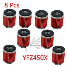 8x Oil Filter For Yamaha WR250 WR450 YFZ450 YFZ450R YZ250 YZ450 XT250 HF KN 140