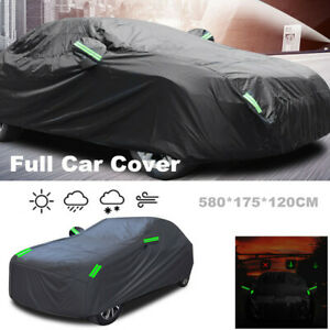 Waterproof Full Car Cover All Weather Snowproof UV Protection Windproof Outdoor