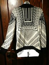URBAN OUTFITTERS Staring at Stars black beige intarsia cardigan knit sweater 4A