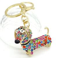 New Key Chains Animal Keyring Purse Bag Rhinestone Charm Pendant Necklace Gift