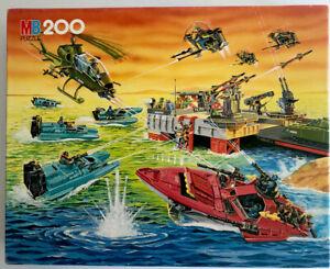 VINTAGE 1986 GI JOE COBRA ACTION FORCE 200 PIECE PUZZLE BY MILTON BRADLEY.